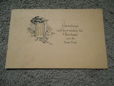 VINTAGE - POST CARD  - GREETINGS - CHRISTMAS AND THE NEW YEAR  1932