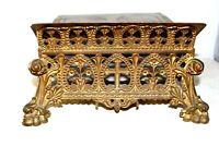 Superbe lutrin pupitre d' autel en bronze doré a l' or XIXe Siècle