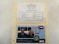 2005 CHARLES & CAMILLA WEDDING PNC COIN COVER 925 SILVER PROOF South Georgia A29