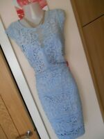 **BNWT** LIPSY LONDON SIZE 12 BLUE LACE FRONT WIGGLE DRESS *FAST POSTAGE**