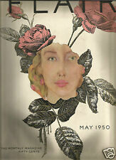 Flair Magazine May 1950 John O'Hara- Birdland -Edward Kasper- Mid-Century Design