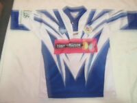 An XS 90 cm Sponsored Penrith Waratahs Junior Rugby League No 7 Players Jersey