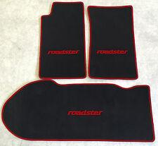 Autoteppich Kofferraum Set für Mazda MX 5 NA schwarz weinrot 3teilig Neuware