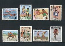 Zaire  #1182-89 (1985 Olympicex Sports set) VFMNH CV $6.00