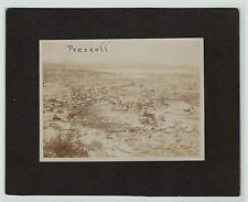 RARE Albumen Photo - Prescott Arizona AZ Birds Eye View ca 1880s