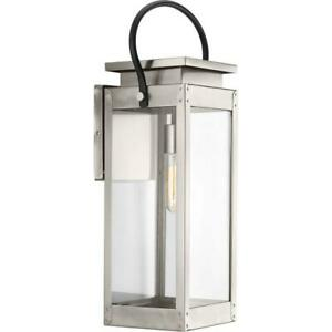 Union Square Coll. 1-Light Stainless Steel 23.6'' Outdoor Wall Lantern Sconce
