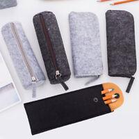 Felt School Pencil Case Fabric For Girls Boys Supplies Stationery Office Pen Bag