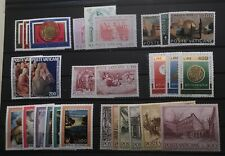 VATICAN CITY # 579-606.  EIGHT COMPLETE MINT NEVER HINGED SETS.