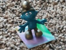 Vintage Single Smurf Figurine 80's PVC Peyo~Schleich #20005 Gold Smurf~Germany