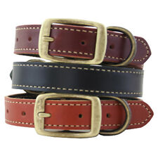 Auburn Leathercrafters Dog Pet Friendly Leather Lake Country Stitched Collar