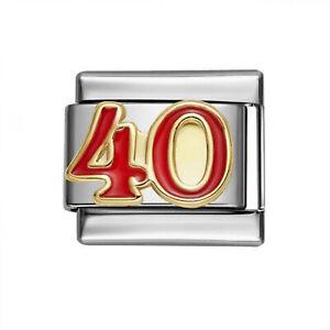 'Number 40'  9 mm Classic  Italian Charm