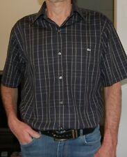 Chemise Lacoste à carreaux manches courtes, Homme Taille 40