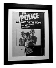 THE POLICE+Walking On Moon+POSTER+AD+RARE+ORIGINAL+1979+FRAMED+FAST GLOBAL SHIP