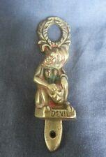 BRASS DEVIL DOOR KNOCKER VINTAGE DOOR KNOCKER