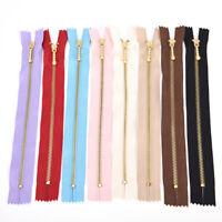 10pcs/lot 20CM YKK #3 Gold Tooth Metal Zipper DIY for Bags Patchwork 2_7BLUS