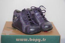 BOPY -  Zoulica - Chassures bébé Fille -  Cuir Violet -  T 19  neuf