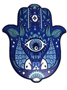 Blue Hamsa~Chai Hand Good Luck Blessing Evil Eye Wall Great Gift GLOBAL SHIP