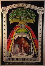 JANIS JOPLIN SAVOY BROWN 1969 Fillmore Winterland Concert Poster BG-165 2nd
