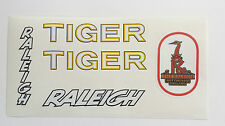"""Raleigh """"TIGER"""" retro/vintage bike decals/sticker set"""