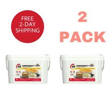 Emergency Food Supply 4 Person Kit Quick Meal Bucket Survival Bucket (2 Pack)