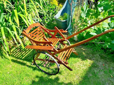 More details for rare antique 1900s oak wooden poussette / stroller by eureka. brevete.s.g.d.g