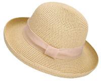 Summer Women Lady Straw Hat Beach Structured Bucket Hats Packable Sun Caps