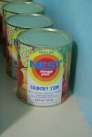 Vintage 1970s Neo-Life NEST Country Stew Can Full Unopened Survival Storage Pack