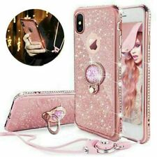 Glitter Bling Phone Case Cover With Ring Holder For iPhone 6s 7 8 X 11 Pro Max
