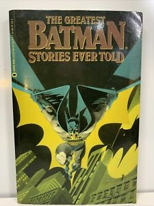The Greatest Batman Stories Ever Told First Edition 1st Printing 1988 DC Comics