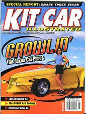 Kit Car Illustrated Magazine June 1999 Growlin' Texas Cat Purrs EX 021716jhe