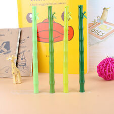 6Pcs Cute Funny Cartoon Bamboo ballpoint Kawaii Stationery ball pen Writing gift