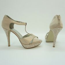 Style & Co Shoe Suki Embellished High Heel Pump Satin Champagne Beige 10 $69