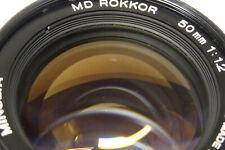 Minolta MD Rokkor 1,2 / 50  mm  Objektiv für analoge Minolta Modelle