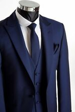 Custom Made Men Suit,Dark Blue Men Wedding Suit,Bespoke Blue Men Wedding Tuxedos