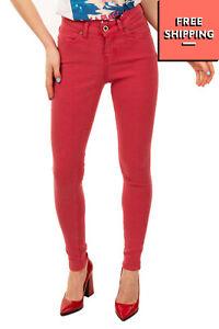 SEVEN7 Jeans W29 L28 Stretch Garment Dye Logo Detail Low Rise Super Skinny Fit