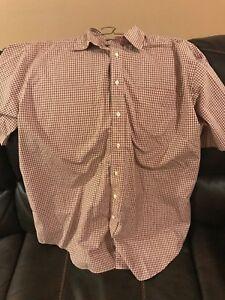 Mens Short Sleeved Button Up Shirt Size XL
