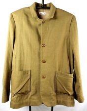 Folk Unstructured Wool Cotton Blend Layered Pockets Blazer Jacket Size 6