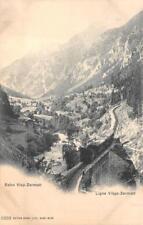 BAHN VISP LIGNE VIEGE ZERMATT SWITZERLAND RAILROAD TRAIN POSTCARD (c. 1905)