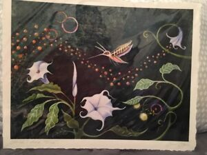 Sacred Datura Limited Edition Print by Sarah Stone 11'' by 14''