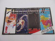 Très Rare BROCHURE PUB Jeux ACCOLADE - SEGA MEGADRIVE SUPER NINTENDO - 1994