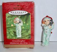 Hallmark Keepsake Christmas Ornament 2000 Granddaughter Fine Porcelain H11