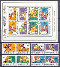 El fútbol WM 1982, soccer-Aitutaki - 412-419, bl.33 ** mnh