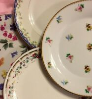 Vintage Set of 4 Mismatched China Salad Plates Very Colorful Beautiful #228