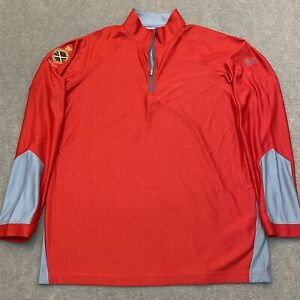 UNDER ARMOUR Athletic Loose Fit 1/4 Zip Shirt Size XL TG Catholic School Patch