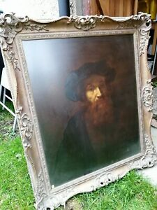 """After Rembrant  """" Man with a Beard"""" Frames and Glazed Classic Collectable"""