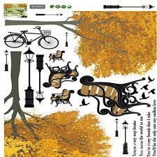 stanza bebè bicicletta albero Cameretta Bimbi PVC Adesivi Da Parete Arredo casa