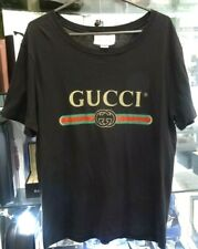 Pre-owned - GUCCI Washed Oversize T-shirt with Gucci logo in Black