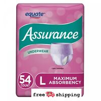 Assurance Incontinence Underwear Women Absorbency  Max Protective L 54 Count