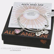 Authentic Alex and Ani Teardrop June Birthstone Rafaelian Silver Bangle