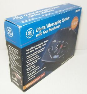NEW GE Digital Messaging System w/ Four Mailboxes Model 29869GE2 - NOS
